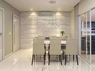 Estúdio j2G| Arquitetura & Engenharia Їдальня Керамічні Білий