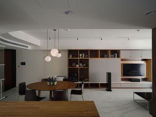 直方設計有限公司 Soggiorno minimalista Marmo Bianco