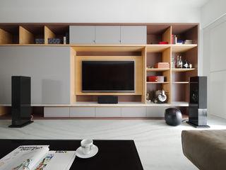 直方設計有限公司 Soggiorno minimalista Legno Effetto legno