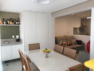 Apartamento Brooklin 3JP Engenharia Salas de jantar modernas Cerâmica Verde