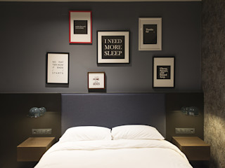 Reformar una Suite juvenil en Sarrià Sant Gervasi, Barcelona. ETNA STUDIO DormitoriosCamas y cabeceros