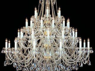 Classical Chandeliers Oturma OdasıIşıklandırma Altın Sarısı