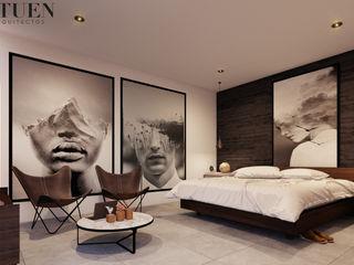 Stuen Arquitectos Kamar Tidur Modern Batu Grey