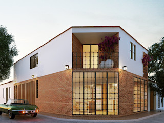 Stuen Arquitectos Rumah tinggal Batu Bata Red