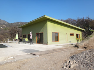 Vivienda Araya por ARKITEKTURA ARKITEKTURA Casas unifamiliares Madera Verde