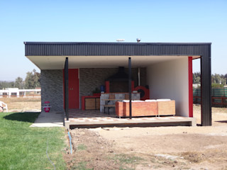Vivienda Jaña por ARKITEKTURA ARKITEKTURA Casas unifamiliares Metal Negro