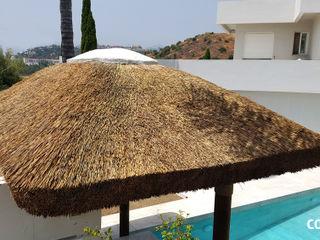 Pérgola de Junco Africano COBERTI Casetas de jardín Madera Marrón