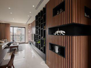 紋理.線條 層層室內裝修設計有限公司 现代客厅設計點子、靈感 & 圖片