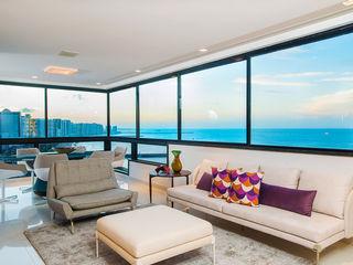 Apartamento Av. Beira Mar RI Arquitetura Salas de estar modernas