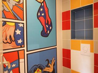 Agence ADI-HOME Dinding & Lantai Modern Keramik Multicolored