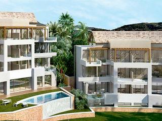 CONCURSO EN URBANIZACIÓN EL HERROJO, BENAHAVIS G&J ARQUITECTURA Casas multifamiliares