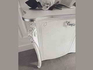 """Wohnzimmer Set """"Viola Bianca"""" in Weiß-Silber Klassische Italienische Möbel SPELS-MÖBEL UG WohnzimmerSchränke und Sideboards Holz Weiß"""