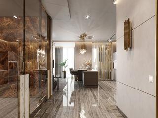 EJ Studio Eclectic style corridor, hallway & stairs