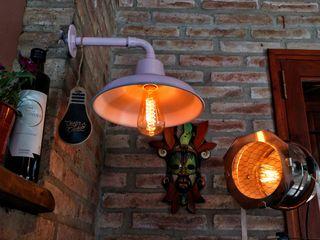 Galponera Lámpara Pared Vintage Lamparas Vintage Vieja Eddie ComedoresIluminación Hierro/Acero Rosa