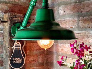 Galponera Lámpara Pared Vintage Lamparas Vintage Vieja Eddie LivingsIluminación Hierro/Acero Verde