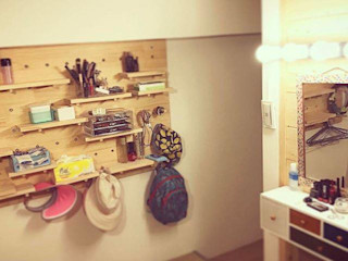 圓方空間設計 Closets de estilo minimalista Contrachapado Acabado en madera
