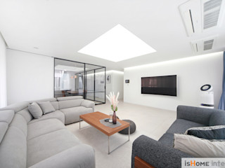 이즈홈 Minimalist living room White