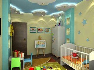 كاسل للإستشارات الهندسية وأعمال الديكور والتشطيبات العامة Nursery/kid's roomBeds & cribs Plywood Blue