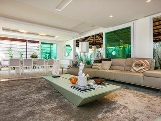 Apto. Cond. Parque das Ilhas - Projeto em Fortaleza RI Arquitetura Salas de estar modernas