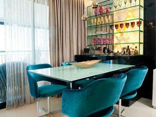Apartamento em Fortaleza com vista para o mar RI Arquitetura Salas de estar minimalistas