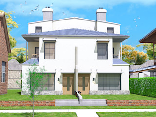 twin duplex design in Denver, Colorado. Quattro designs