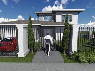 Residência Cláudia Legonde Casas clássicas Concreto Branco