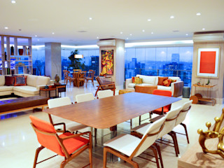 Adriana Scartaris: Design e Interiores em São Paulo غرفة السفرة خشب