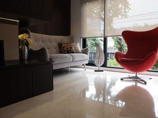 Modern Masculine house Exxo interior Ruang Keluarga Modern Kayu Wood effect