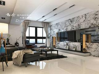 現代時尚遇見人文休閒 木博士團隊/動念室內設計制作 现代客厅設計點子、靈感 & 圖片 大理石 Black