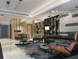 現代時尚遇見人文休閒 木博士團隊/動念室內設計制作 现代客厅設計點子、靈感 & 圖片 木頭 Black