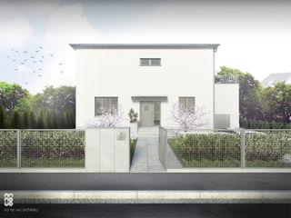WILLA (RE)MODERNISTYCZNA NA NO WO ARCHITEKCI Minimalistyczne domy