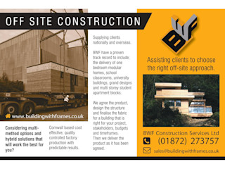 Off Site Construction - Modular Build Building With Frames Prefabricated home Wood
