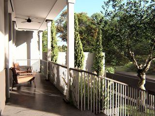 alexander and philips Balcones y terrazas clásicos Madera Blanco