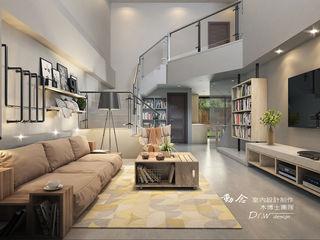 打造專屬於你的19度C 微工業風 木博士團隊/動念室內設計制作 客廳 木頭 Orange
