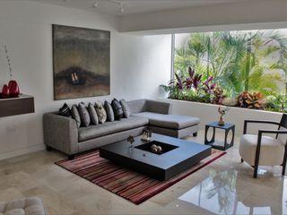 Apartamento en Chulavista RRA Arquitectura Salas de estilo minimalista Mármol Gris