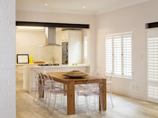 Remodeling of the face brick home Deborah Garth Interior Design International (Pty)Ltd Modern kitchen