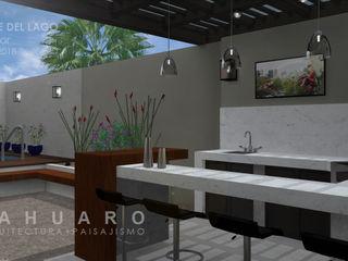 SAHUARO Arquitectura + Paisajismo Varandas, alpendres e terraços minimalistas