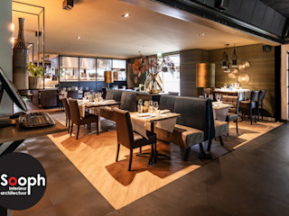 Verbouwing restaurant Kir Royal Borne Sooph Interieurarchitectuur Klassieke gastronomie Amber / Goud