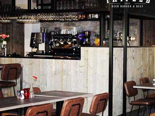 Verbouwing restaurant Cherry – Triple B Sooph Interieurarchitectuur Industriële gastronomie Zwart