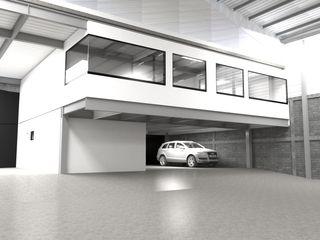 V Arquitectura Minimalistische Arbeitszimmer Weiß