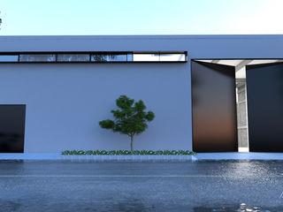 V Arquitectura Minimalistische Häuser Weiß
