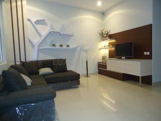 luxe interior SalasMuebles de televisión y dispositivos electrónicos Contrachapado Multicolor