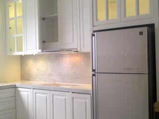 luxe interior CocinaArmarios y estanterías Contrachapado Blanco