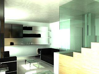 MEF Architect 现代客厅設計點子、靈感 & 圖片 玻璃 Wood effect