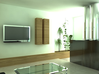 MEF Architect 書房/辦公室 玻璃 Wood effect