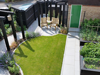 Garden Design Bracknell, Berkshire Linsey Evans Garden Design Modern garden Granite Blue