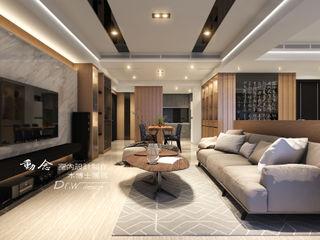 低調極簡的現代禪風× 曙光之旅2 木博士團隊/動念室內設計制作 现代客厅設計點子、靈感 & 圖片