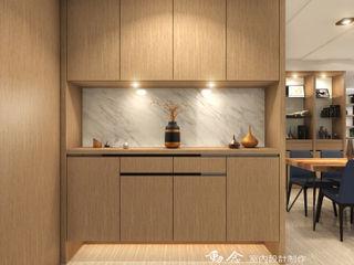 低調極簡的現代禪風× 曙光之旅2 木博士團隊/動念室內設計制作 現代風玄關、走廊與階梯
