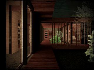 Vicente Espinoza M. - Arquitecto プレハブ住宅 木 ブラウン