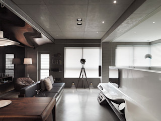 返 - 新北徐宅 形構設計 Morpho-Design 现代客厅設計點子、靈感 & 圖片